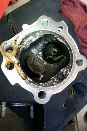 Broken Valve Causing Damage